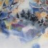 Снежна приказка, 37х17, акварел