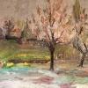 Пролет, изгрев,1958г, 30х40, масло, платно