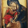 Богородица с младенеца, 12х17, темпера, дърво