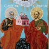 Св. Петър и Павел. темпера, дърво, 28х18