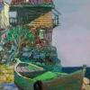 Несебърска лодка, 24х18, масло, платно