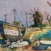 Рибарска лодка, 30х40, масло, платно