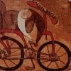 Велосипед, 12х18, смесена техника