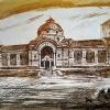 Музей на София, 18х24, офорт
