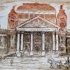 Народния театър, 14х20, офорт