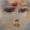 Женски очи, 32х47, акварел, хартия