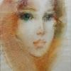 Момиче в топла гама, 48х34, акварел, хартия