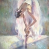 Балерина, 40х50,  масло, платно