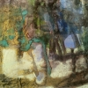 бстрактна композиция, 25х23, хартия , пастел