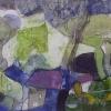 Абстрактна композиция, 33х16, хартия, пастел